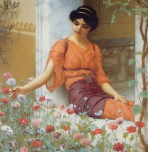 Grafika 1500 - John William Godward : Summer Flowers, 1903