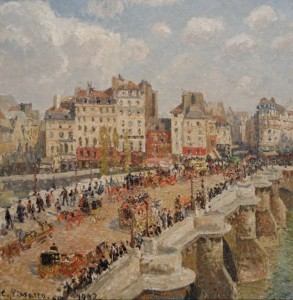 Grafika 1500 - Camille Pissarro : The new bridge, 1902
