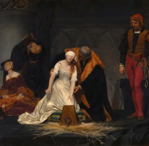 Grafika 1500 - Paul Delaroche : The Execution of Lady Jane Grey, 1833