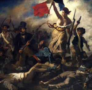 Grafika 1500 - Delacroix Eugène : Liberty Leading the People, 1830