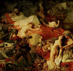 Grafika 1500 - Eugène Delacroix, The Death of Sardanapale,1827
