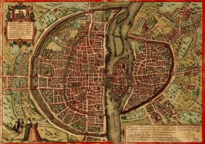 Grafika 1000 - Map Of Paris, 1572
