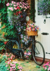 Art Puzzle 500 - Bicycle and Flowers