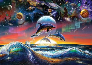 Art Puzzle 500 - Universal Dolphins
