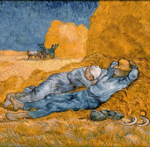 Grafika 1500 - Vincent Van Gogh : The Siesta (after Millet), 1890