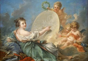 Grafika 1000 - François Boucher : Allegory of Painting, 1765 (Alegoria malarstwa)