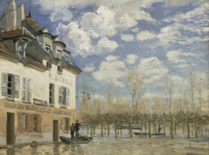 Grafika 2000 - Alfred Sisley: The Boat During the Flood at Port-Marly, 1876