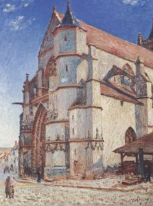 Grafika 2000 - Alfred Sisley: The Church of Moret, 1893