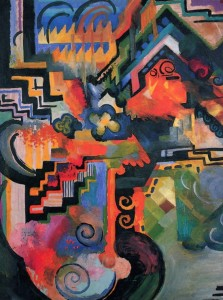 Grafika 2000 - August Macke: Colorful composition, 1912