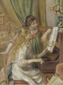 Grafika 2000 - Auguste Renoir : Young girls at the piano, 1892