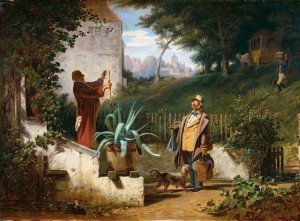 Grafika 2000 - Carl Spitzweg - childhood friends, 1855