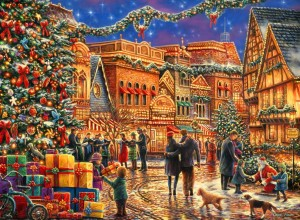 Grafika 2000 - Chuck Pinson - Christmas at the Town Square