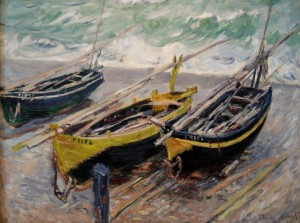 Grafika 2000 - Claude Monet: Three Fishing Boats, 1886