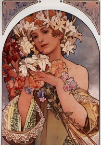 Grafika 1000 - Alfons Mucha : The Flower, 1897 ( Alfons Mucha: Kwiat )