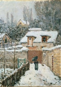 Grafika 1000 - Alfred Sisley : The snow at Louveciennes, 1878 ( Alfred Sisley: Śnieg w Louveciennes )