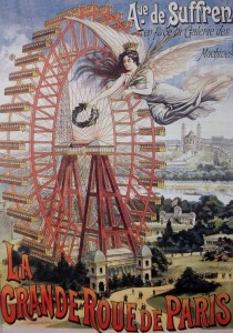 Grafika 1000 - Advertising Poster for the Paris Big Wheel , 1910 ( Plakat reklamowy do Wielkiego Koła w Paryżu )