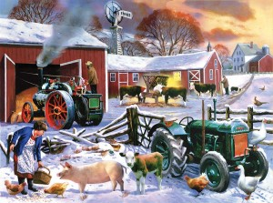 SunsOut 1000 -  Kevin Walsh - Wintertime Farm