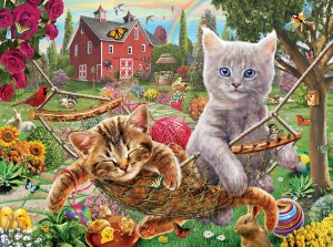 SunsOut 1000 - Adrian Chesterman - Cats on the Farm