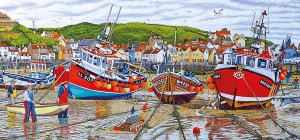 Gibsons 636 - Roger Neil Turner - Seagulls at Staithes