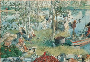 Pomegranate 1000 - Carl Larsson: the fishing for crayfishes