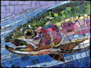 SunsOut 1000 - Cynthie Fisher - Stained Glass Rainbow Trout