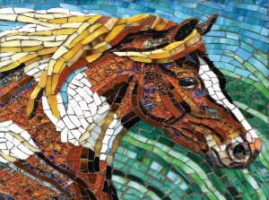 SunsOut 1000 - Cynthie Fisher - Stained Glass Horse